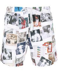 Lacoste Плавки-шорты С Принтом Из Коллаборации С Polaroid - Белый