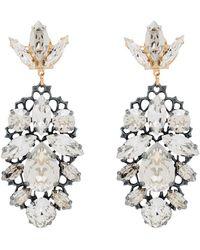 Anton Heunis Gold-plated Swarovski Crystal Chandelier Earrings - Metallic