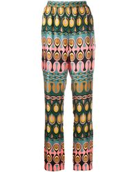 LaDoubleJ Abstract-print Trouseers - Multicolour