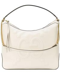 Gucci - Embossed GG Hobo Bag - Lyst