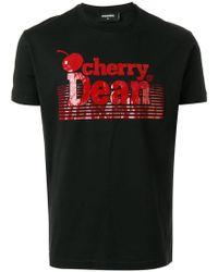 "DSquared² - T-Shirt mit ""Cherry Dean""-Print - Lyst"