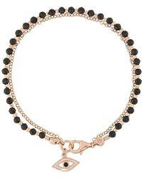 Astley Clarke Armband Met Boze Oog - Zwart