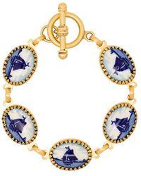 Brinker & Eliza Happy Place Gold-plated Bracelet - Blue