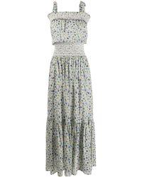 Tory Burch Расклешенное Платье С Цветочным Принтом - Многоцветный