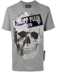 Philipp Plein - T-shirt Met Doodskop Print - Lyst