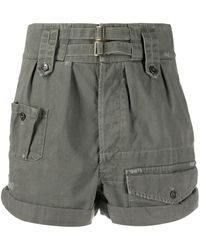 Saint Laurent High Waist Shorts - Grijs