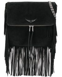 Zadig & Voltaire Rockson Fringes Bag - Black
