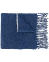 Vivienne Westwood ロゴ インターシャ スカーフ - ブルー