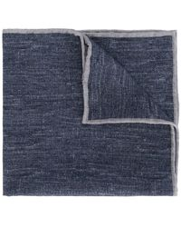 Eleventy - Denim look scarf - Lyst