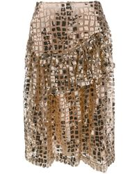 Simone Rocha スパンコール スカート - メタリック
