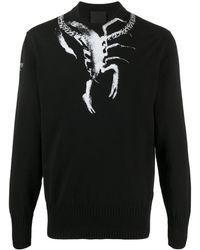 Givenchy Jersey con estampado Scorpio - Negro