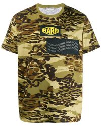 Givenchy T-shirt Met Camouflageprint - Groen