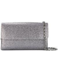Casadei | Foldover Glittered Clutch Bag | Lyst