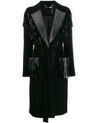 Philipp Plein Fringed Coat - Black