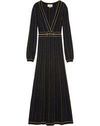 Gucci - ラメ ストライプ ドレス - Lyst