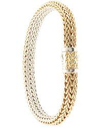 John Hardy Pulsera Classic Chain reversible en oro de 18kt y plata de ley - Metálico