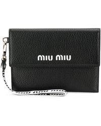 Miu Miu Logo Envelope Wallet