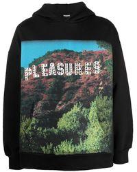 Pleasures Pleasurewood Graphic-print Hoodie - Black