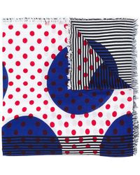 Burberry - Dot And Stripe Scarf - Lyst