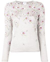 Giambattista Valli Floral Print Sweater - Gray