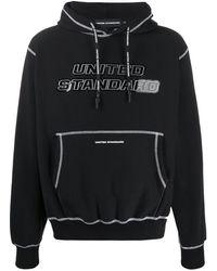 United Standard ロゴ パーカー - ブラック
