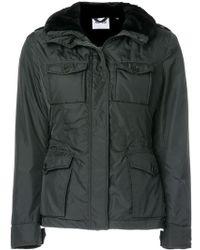 Aspesi Faux Fur Trimmed Padded Jacket - Green