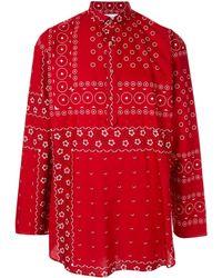 Kolor Printed Loose-fit Shirt - Red