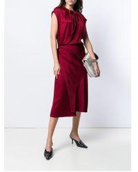 JOSEPH Платье Миди С Запахом - Красный