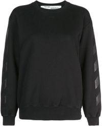 Off-White c/o Virgil Abloh Diagonal スウェットシャツ - ブラック