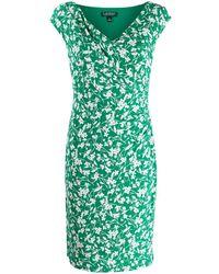 Lauren by Ralph Lauren Floral Print Bodycon Dress - Green