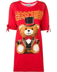 Moschino Robe Circus Teddy Bear - Rouge