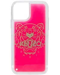 KENZO Coque d'iPhone 11 Tiger - Rose