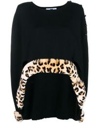 Blumarine - Leopard Detail Knitted Cape - Lyst