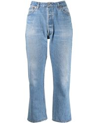 RE/DONE - Jeans a vita alta - Lyst