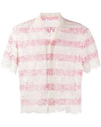 DSquared² Striped Lace Shirt - Pink