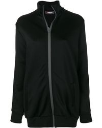 Jo No Fui Oversized Stripe-detail Track Jacket - Black