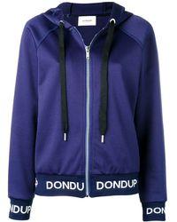 Dondup ロゴ フーデッド ジャケット - ブルー