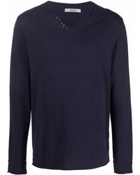 Zadig & Voltaire V-neck Long-sleeved Sweater - Blue