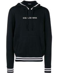 Dolce & Gabbana - Kapuzenpullover mit Logo-Stickerei - Lyst