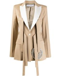 JW Anderson Strap-detail Tailored Blazer - Natural