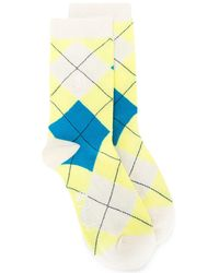 Pringle of Scotland Reissued Classic Argyle Socks - Yellow