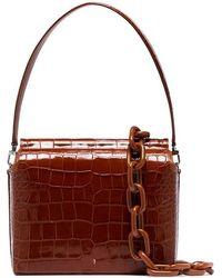 00479d6d97b GU DE - Brown Duet Medium Croc-effect Leather Shoulder Bag - Lyst