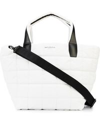 VeeCollective Quilted Puffer Tote Bag - White