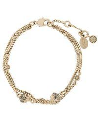 Alexander McQueen - Multi Chain Skull Charm Bracelet - Lyst