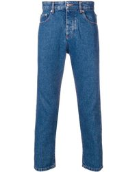 AMI Cropped Jeans - Blue