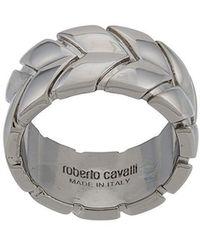 Roberto Cavalli Bague à design géométrique - Métallisé