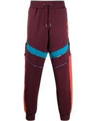 Fila Ayaka Color-blocked Trousers - Red