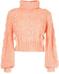 Alice McCALL Only You Cropped Sweater - Orange