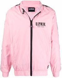 U.P.W.W. Kapuzenjacke mit Logo-Print - Pink