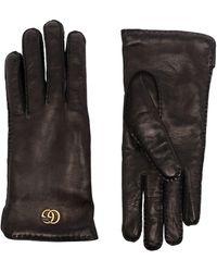 Gucci Перчатки Maya С Логотипом Double G - Черный